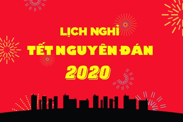 Thông báo lịch làm việc trước tết Nguyên đán 2020